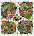 set spring combinations objects and elements vector image vector image