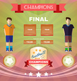 Soccer Game Champions Final vector image vector image