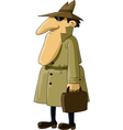spy with suitcase vector image vector image
