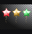 star balloon colorful set on transparent vector image