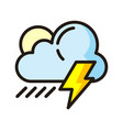 storm icon isolated on white background from vector image