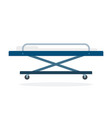 stretcher on wheels flat material design isolated vector image vector image