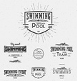 Swimming badges logos and labels for any use vector image