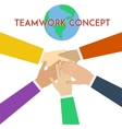 teamwork concept minimal flat vector image