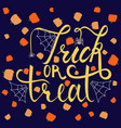 trick or treat modern brush inscription vector image