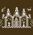 warli temple pattern vector image vector image