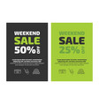 weekend sale flayer template vector image vector image