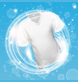 white shirt washing in water with soap bubble and vector image vector image