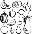with a set fruit vector image vector image