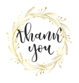 Thank you greeting vector image