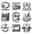 American Football Black White Emblems vector image