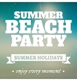 Summer beach party page with holidays vector image