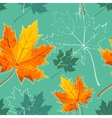 vintage floral autumn fall seamless background vector image