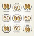 60 years anniversary logo set vector image