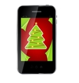 Abstract design mobile phone with Christmas vector image