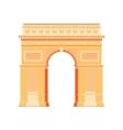 Arc de Triomphe - triumphal arc in Paris France 4 vector image vector image