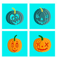 assembly flat halloween pumpkin emotions vector image vector image