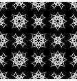 Black Ornamental Seamless Line Pattern vector image