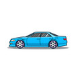 blue japan car side view vector image