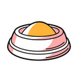 bowl food for animals cartoon vector image