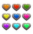 Cartoon stone hearts set vector image vector image