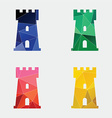 castle icon Abstract Triangle vector image vector image