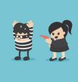 catch culprit a business woman vector image vector image