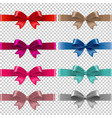 color bows isolated transparent background vector image