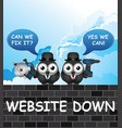 comical website down vector image vector image