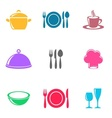 Cooking and kitchen icons vector image vector image