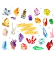 Crystals and stones Isolated Set vector image vector image