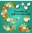 Decorative articles made of corals and colors vector image vector image