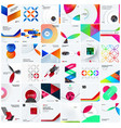 design set of colourful abstract elements vector image vector image
