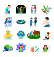 drug abuse icons collection vector image vector image