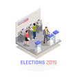 elections isometric concept vector image vector image
