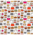 fashion bags seamless pattern vector image vector image