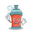 finger aerosol spray can character cartoon vector image vector image