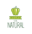 Fresh Vegan Food Promotional Sign With Green Sweet vector image vector image