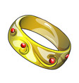golden ring isolated on white background vector image vector image