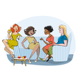 Group of chatting women vector image