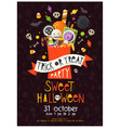 halloween poster with sweets vector image vector image