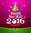 Happy New Year Greeting Card design on purple vector image