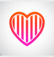 heart stripes vector image