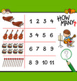 how many musical instruments counting game vector image