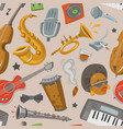 jazz musical instruments tools jazzband music vector image vector image