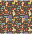 Joyful autumn pattern vector image vector image