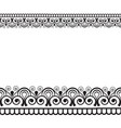 mehndi henna line lace seamless element with vector image vector image