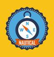 nautical compass navigation location equipment vector image