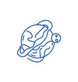 optimal logistics line icon concept optimal vector image vector image