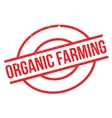 Organic farming rubber stamp vector image